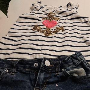 Shorts and a shirt
